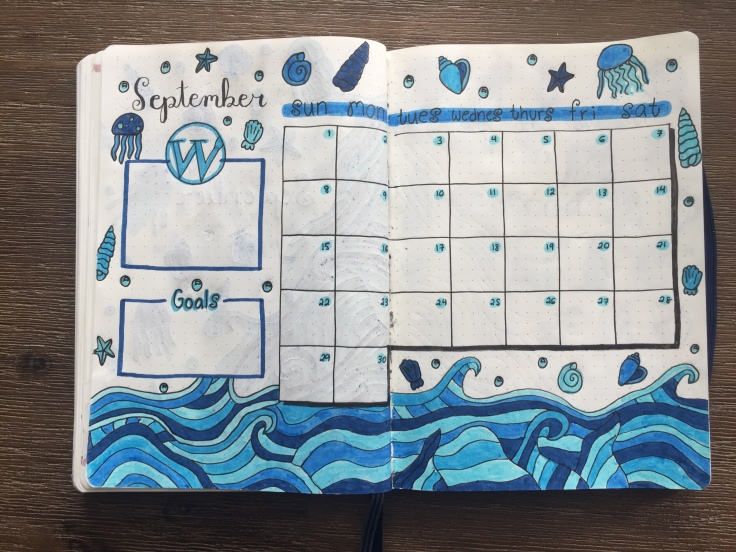 September Bullet Journal Set-Up with August Monthly Recap
